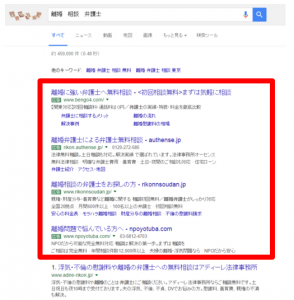 検索広告の表示イメージ