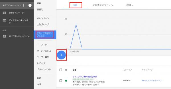 Googleアドワーズ(新管理画面)での広告の追加方法