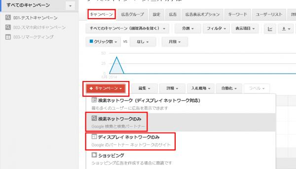 Googleアドワーズ(旧管理画面)でのキャンペーン設定方法
