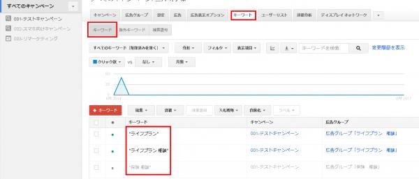 Googleアドワーズ(旧管理画面)でのマッチタイプの確認方法