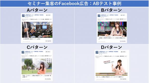 セミナー集客のFacebook広告:ABテスト事例