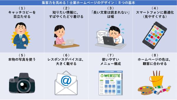 集客力を高める!士業ホームページのデザイン:8つの基本