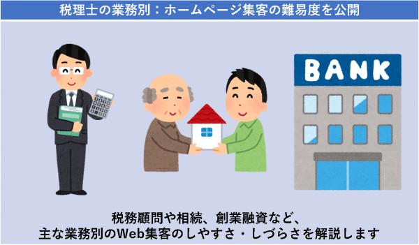 税理士の業務別:ホームページ集客の難易度を公開